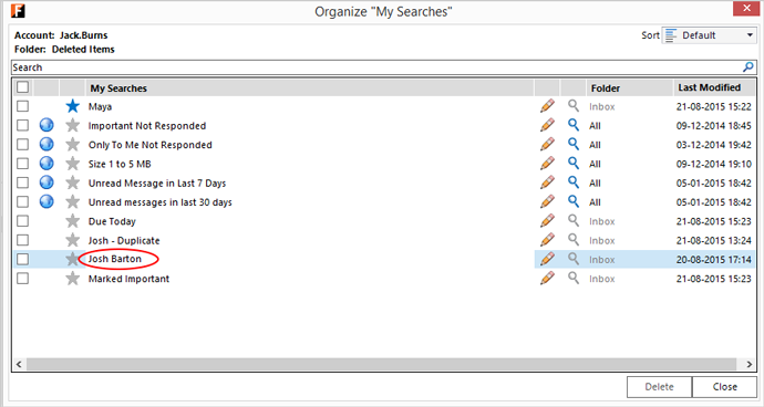 organize My Searches - Edited
