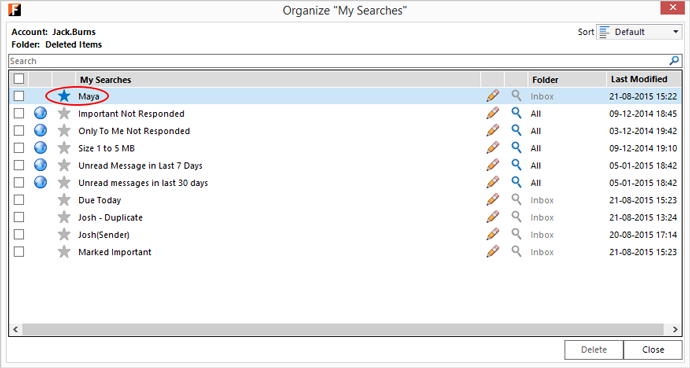 organize My Searches - Favorite2