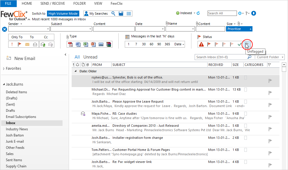Screen 7 - How to get the list of emails that I need to follow up on